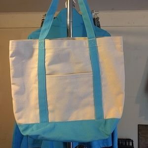 Handbags - Canvas tote with blue trim